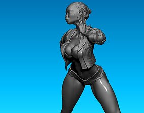 Naked girl 3D print model figurines