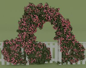 Arch with flowers 3D model