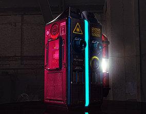 3D asset Cyberpunk sci-fi Terminal or Computer or Laser