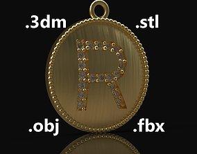 Model 182 Alphabets Necklace The Letter R Necklace