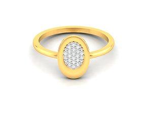 jewel Women bride band ring 3dm render detail
