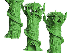 Dice tower wood elf 3D printable model