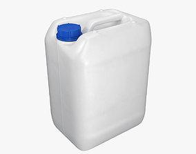 Plastic container white 01 3D