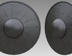 3D asset game-ready Buckler shield