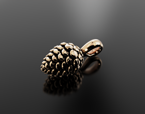 Pine cone pendant for graceful and 3D printable model 2