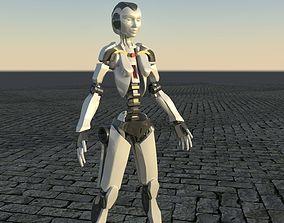 Robot Sci-Fi low poly model