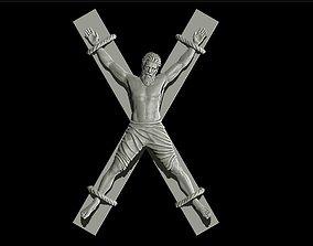 Realistic sculpture crucifix 3D print model