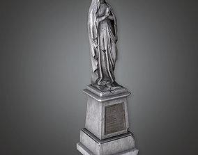 3D model Stone Statue Cemetery 7 CEM - PBR Game Ready