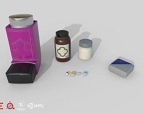 3D model Game Ready Medecine Set D180302