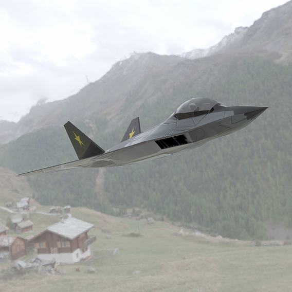 F-24A Over a Field
