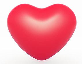 Heart Symbol poly 3D model realtime