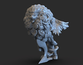 Lion Car Ornament with Wings 3D print model