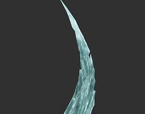 Low poly Sharp Ice Column 09 3D model