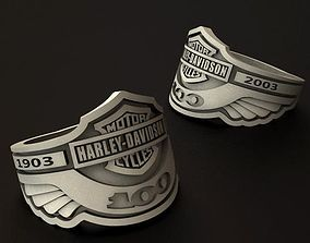 Harley Davidson 100th anniversary ring 3D printable model