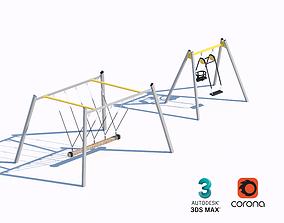 3D model children swing set 01
