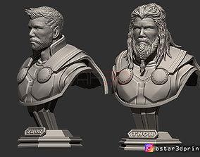 3D print model Thor Bust Avenger 4 bust - 2 Heads - 3