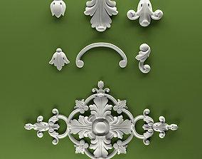 Classic Furniture Fretwork relief Set 4 3D printable model