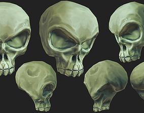3D model Stylized Humanoid Skull