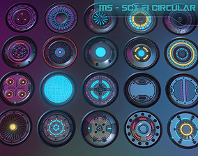 3D model 20 Scifi Circular Emission Decal Pack with 3