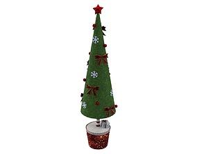 3D asset VR / AR ready Toy Christmas Tree