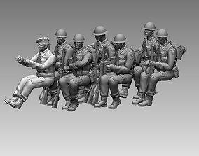 British soldiers ww2 3D print model