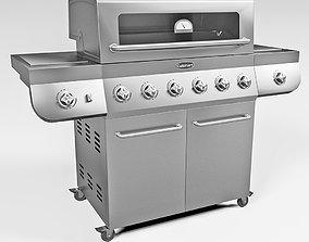 Cuisinart Deluxe Six Burner Gas Grill 3D model