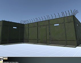 3D asset low-poly Armored Tactical Wall