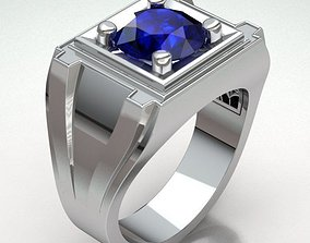 diamond 3D print model Ring Man