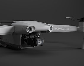 DJI Mavic Air 2 drone with transmitter 3D model