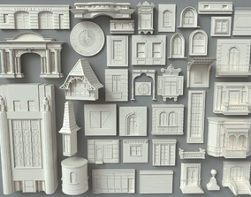 3D model Building Facade Collection-6 - 40 peace