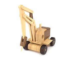 3D model Wooden toy cran 03