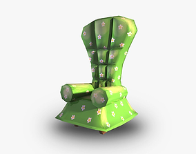 3D model realtime Chair cushion