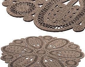 3D model Safavieh Ljiljanka Floral Jute Rug