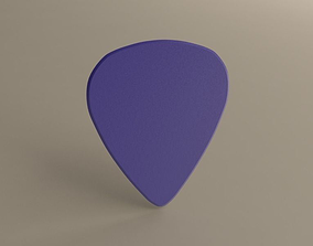 Guitarpick Thick HARD 3D print model