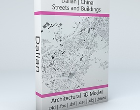Dalian Streets and Buildings realistic 3D