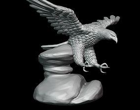 Bald Eagle sculpture 3D print model