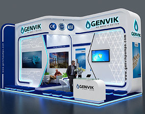 Exhibition Stall size 8x4Mtr Two Side Open 3D