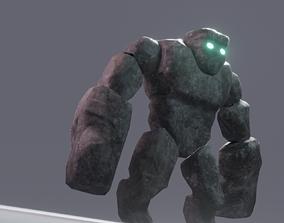 Stone Golem 3D model game-ready
