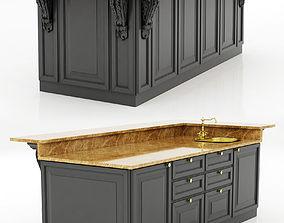 3D Kitchen Island Cabinet 2