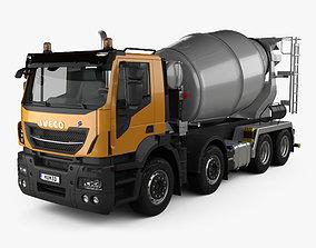 3D Iveco Stralis X-WAY Mixer Truck 2017