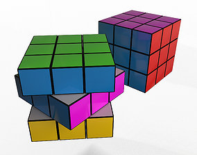 Rubiks Puzzle Cube 3D asset