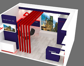 3D model exhibition stand 22