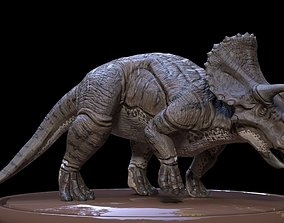 rigged 3D Triceratops