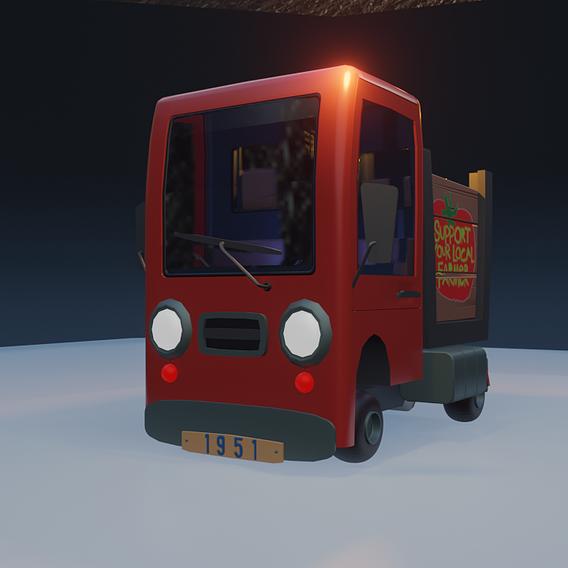 Stylized Farm Truck