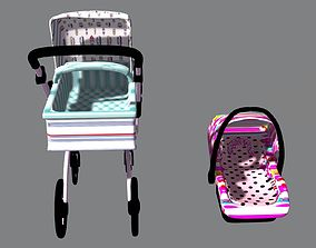 Gubi Car baby Set colors 3D asset