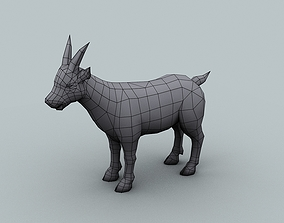 Model for texturing Goat 3D asset