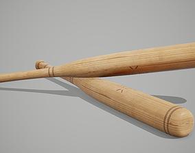 3D asset realtime PBR Baseball Bat