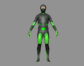 Character man people figther rigged 3D asset animated