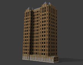 3D asset Detroit Abandoned Skyscraper