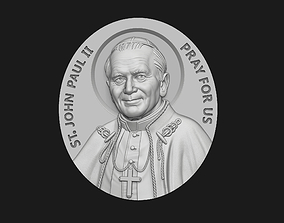 John Paul II Medallion 3D print model